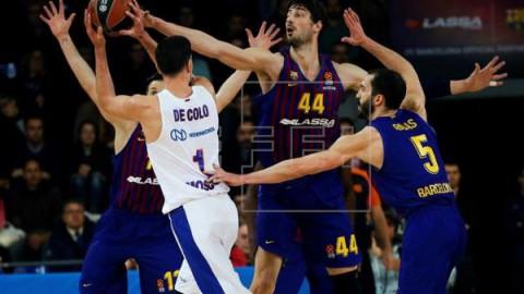 BALONCESTO EUROLIGA: BARÇA LASSA-CSKA MOSCÚ  76-84. Al Barça Lassa se le apaga la luz en el último cuarto