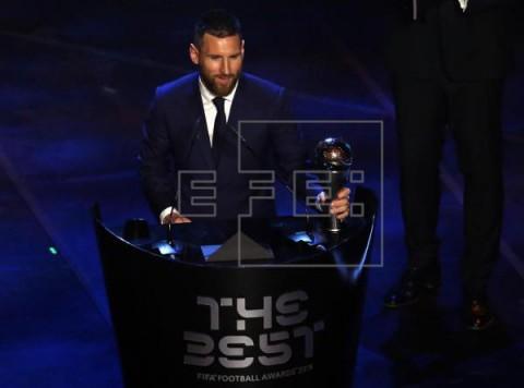 FÚTBOL FIFA THE BEST Messi gana el `The Best` a mejor jugador del año