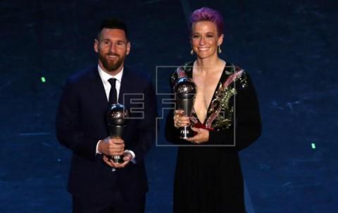 FÚTBOL FIFA THE BEST Messi y Rapinoe, estrellas en La Scala de Milán