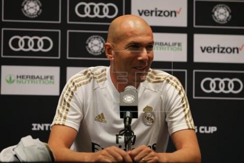 FÚTBOL INTERNATIONAL CHAMPIONS CUP Zidane: `Estoy muy satisfecho con todos los jugadores por el trabajo hecho`