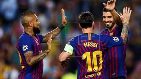 FÚTBOL LIGA CAMPEONES 4-0. Messi demuestra por qué este año va a por la `linda Copa`