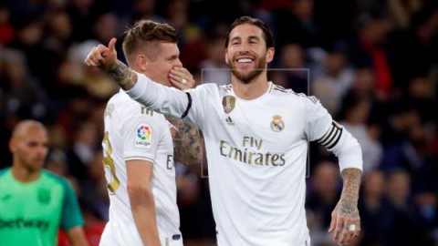 FÚTBOL REAL MADRID-LEGANÉS 5-0. El Real Madrid encuentra la tranquilidad