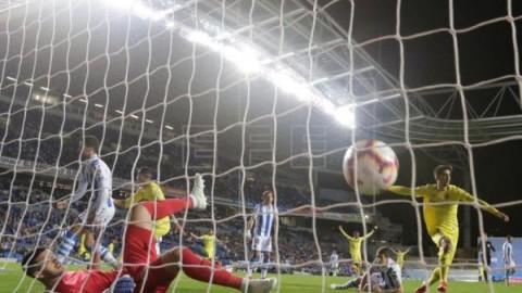FÚTBOL REAL SOCIEDAD VILLARREAL 0-1. Gerard Moreno le da media permanencia al Villarreal