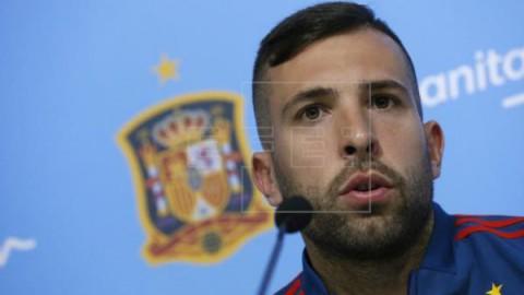 FÚTBOL SELECCIÓN Jordi Alba asegura que Piqué `tendrá sus razones` para jugar con Cataluña