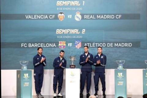 FÚTBOL SUPERCOPA Valencia-R.Madrid y Barça-Atlético, semifinales de la Supercopa en Arabia Saudí