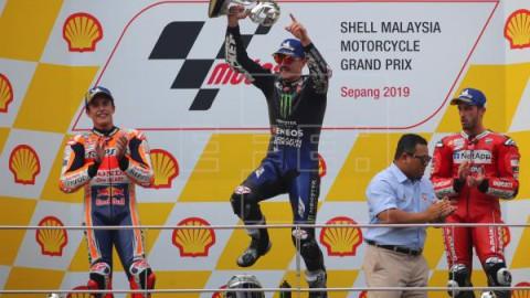 MOTOCICLISMO G.P. MALASIA MOTOGP Victoria de Viñales, título de Alex Márquez